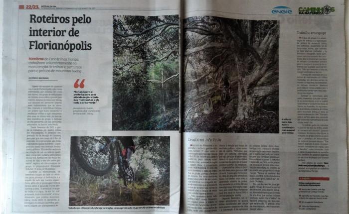 Grupo de ciclistas realiza readequação de trilhas para mountain biking, emFlorianópolis