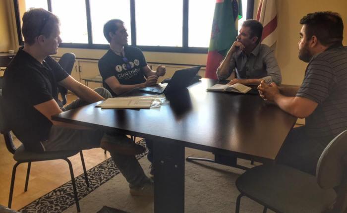 Reunião com vice-prefeito